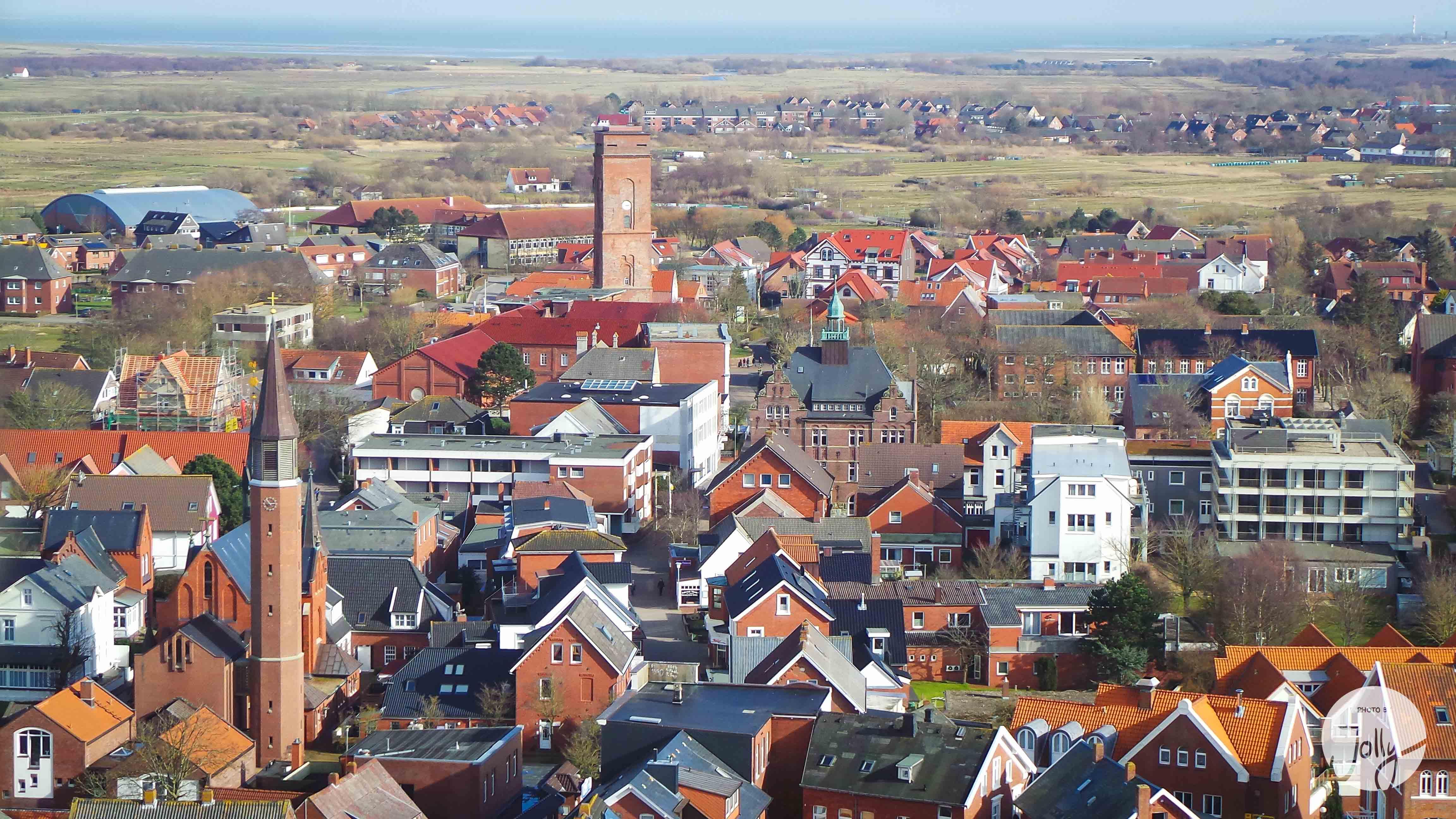 Borkum im Winter - Blick vom Leuchtturm