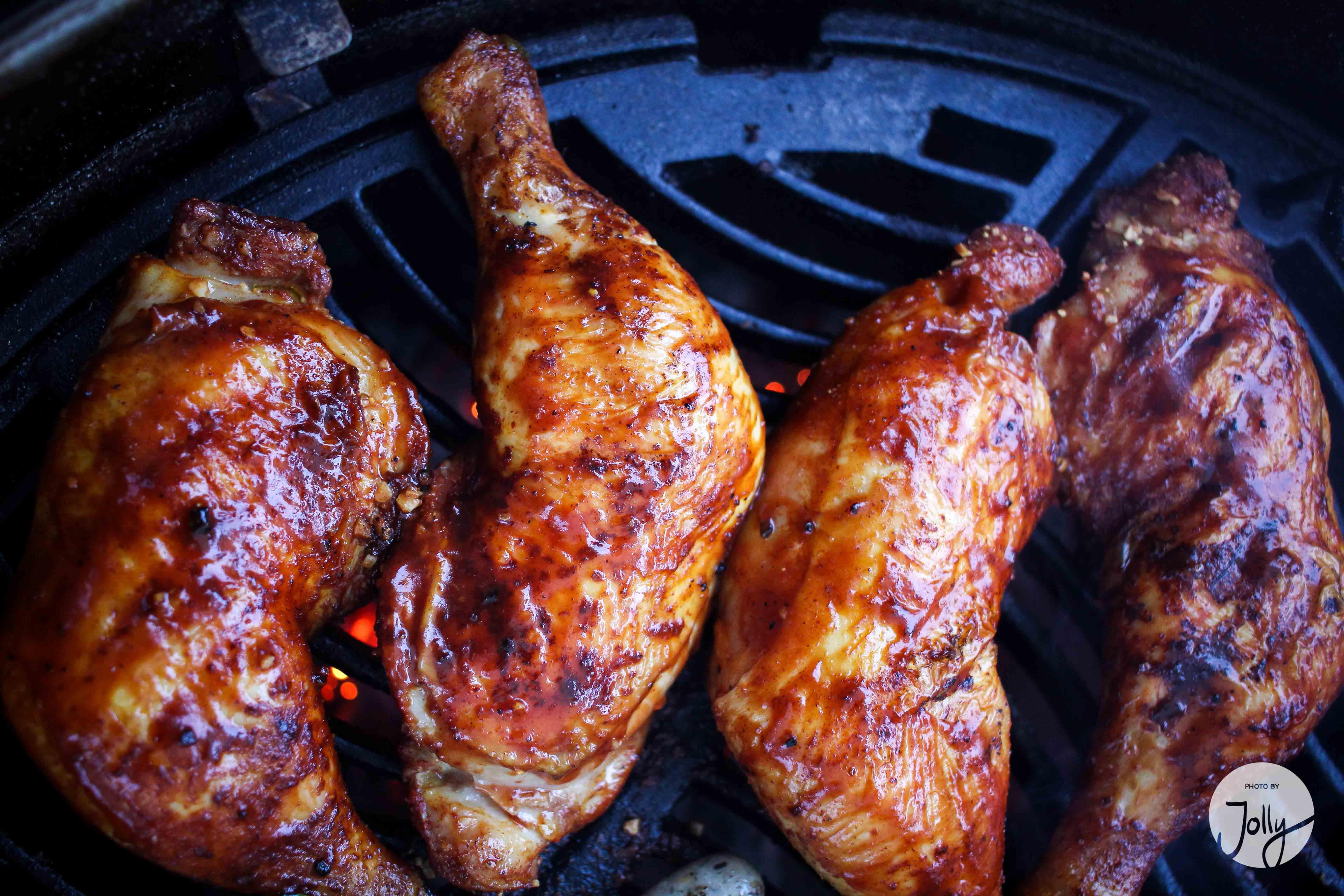 Grillen Hähnchenkeule BBQ