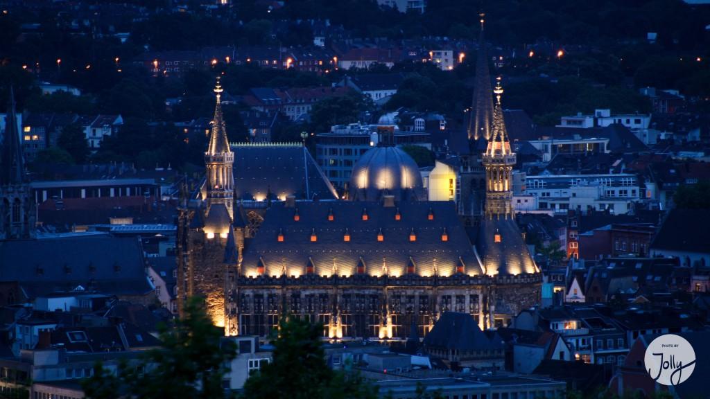 Aachen Rathaus Nacht